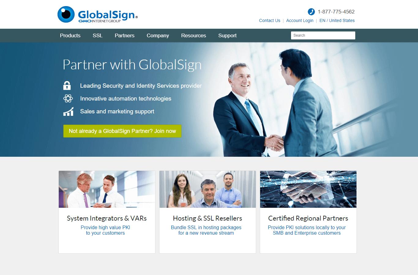 Партнерская программа GlobalSign