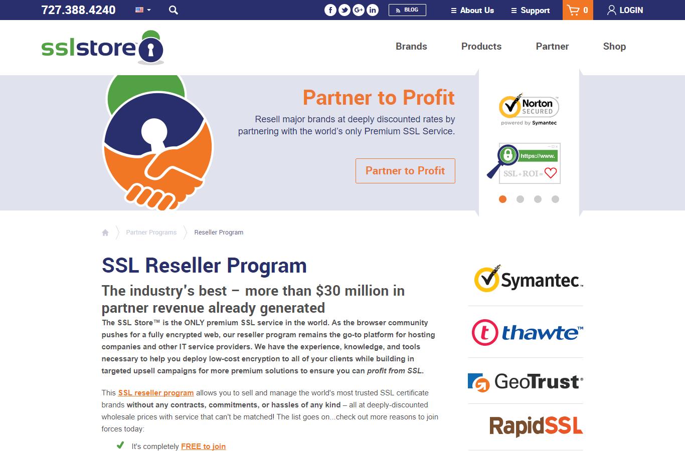 Партнерская программа The SSL Store