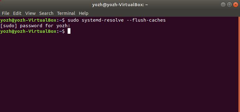 flush dns cache ubuntu