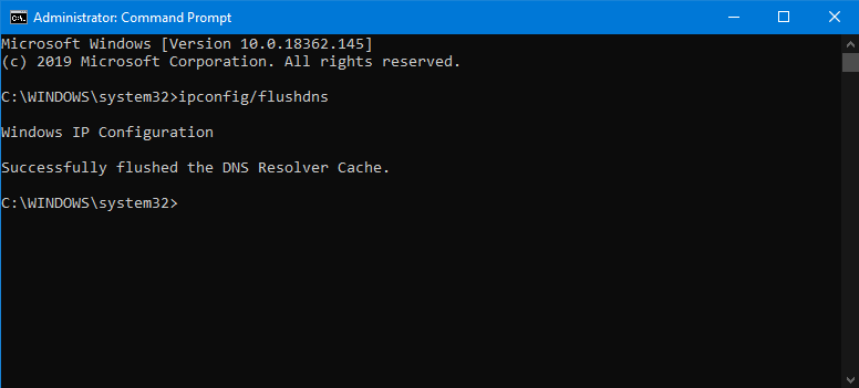 clear dns cache windows 10